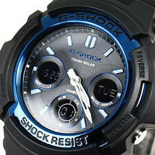 Casio watch G-SHOCK BLACK/BLUE AWG-M100BC-2AJF Men from japan New