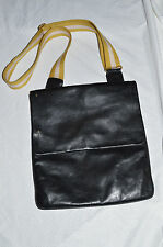 BALLY Black leather messenger bag