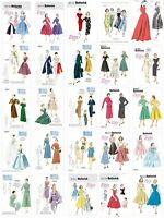 Vogue Butterick Sewing Patterns Retro Vintage 1950's Dresses Jackets Coat Gowns