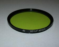 VINTAGE LIGHT GREEN 82MM METAL SCREW IN FILTER  -FREE SHIPPING-