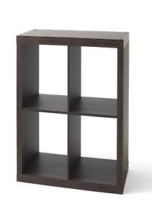LP Vinyl Record Storage Album Cube Organizer Display Rack Shelf Bookcase Brown
