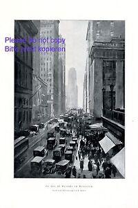 In der 42. Straße in New York XL 1923 Kunstdruck USA Amerika Manhattan Baker
