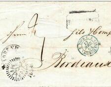 FRANCE Cover *Valenciennes* Bordeaux 1854 {samwells-covers} GI308