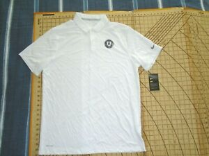 "MENS LARGE WHITE NIKE ""H"" BASKETBALL POLO SHIRT - NWT"