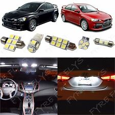 7x White LED lights interior package kit for 2007-2014 Mitsubishi Lancer ML1W