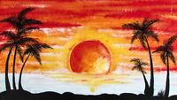 """perfect  36x24 oil painting handpainted on canvas """" sunrise""""819"""