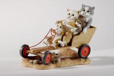 Gato Go karting cómic & curious Cats #a22913 años personaje Linda Jane Smith gato
