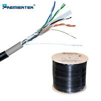 1000FT CAT6 Shielded FTP Outdoor 23AWG 550 Cable Wire Solid Direct Burial UV