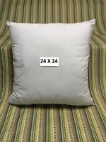 """NEW PILLOW FORM INSERT SQUARE 24"""" X 24"""" SOFT 100% POLYESTER FILL MADE IN USA"""