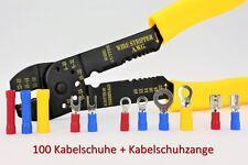 100 x Kabelschuhe Kabelschuhzange Set Crimpzange Quetschverbinder Abisolierzange