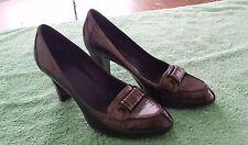 Franco Sarto Brown Leather Pumps Heels Size 6.5