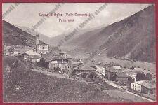BRESCIA VEZZA D'OGLIO 23 ASSOCIAZ. PRO VALLE CAMONICA Cartolina VIAGGIATA 1910