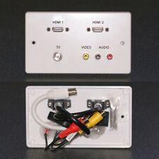MURO AV/piastra di superficie, 2x HDMI/3 Phono Audio e Video/PRESE TV con code