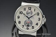 Mens Ulysse Nardin Maxi Marine Chronometer White Dial Auto 41MM Watch 263-66