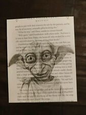 Harry Potter book page print, Dobby, unframed home decorations, wall hangings