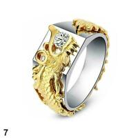 Gold-Plated Gold Gold Ring Domineering Dragon Pattern Man Ring classic M2P2