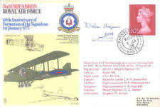 Raf29 ww2 WWII 10 Sqn Cover Signed ACM Ivelaw-Chapman Evader