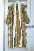 saffron mixed print long kimono cardigan XL