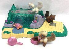 Vintage Littlest Pet Shop Water Garden Kitties Cat Pond Lights Up Kenner 1995