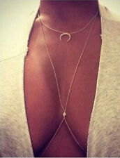 Fashion Body Chain Harness Crossover Belly Waist Bikini Beach Slave Necklace