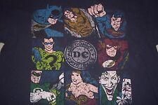 DC Comics Batman Superman Wonder Woman Joker Riddler Flash T-Shirt Womens L