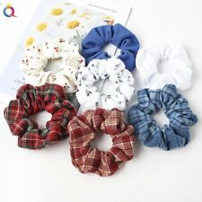 Scrunchie Hair Ties Rope Bands Autumn Winter Silk Wool Satin Traditional Prints