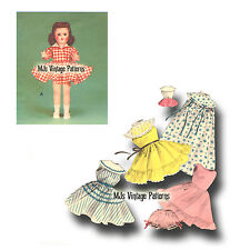 "Vtg 50s Doll Clothes Dress Pattern for 14"" 15"" Toni, Miss Revlon, Sweet Sue"