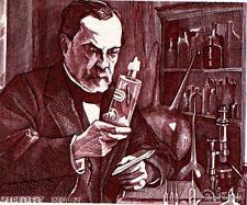 Pasteur Impfstoff gegen Tollwut Frankreich Philatelistische Dokument offiziell