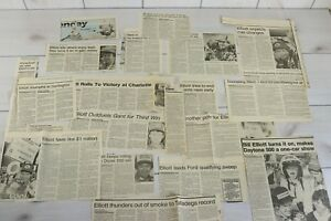Lot Vintage 1984 1985 Bill Elliott Newspaper Clippings Stock Car Nascar Racing