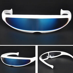 Fashion Space Robot Mercury Lens Sunglasses Personality Protection Stylish Cool