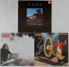 3x Vinyl LP Bundle Sammlung Saga - In Transit / Heads Or Tales / Worlds Apart