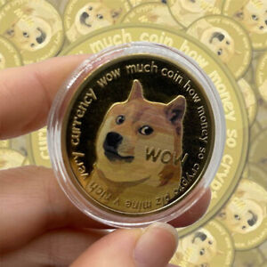 10 Gold Dogecoin Coin Commemorative 2021 New Collectors Doge Souvenir Medal Gift