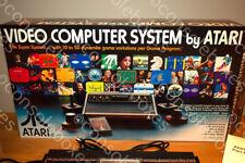 """Atari 2600 VCS Woody Sixer """"Chess Piece"""" Empty Console Box & Inserts"""
