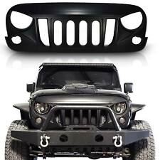 MONSTER Angry Front Matte Black Grille Grill For Jeep Wrangler JK 2007-2017