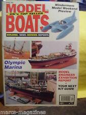 MODEL BOATS APRIL 1993 HMS WARRIOR CAPTAIN JOLLY BOAT OLYMPIC MARINA