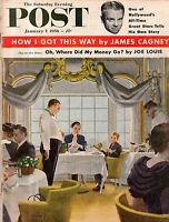 1956 Saturday Evening Post January 7 - James Cagney; Oracoke Island; Perry Mason