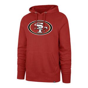 Men's San Francisco 49ers Imprint Headline Team Colour Logo Pullover NFL Hoodie