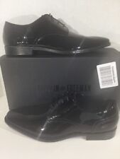 FRANKLIN & FREEMAN Graham Mens Size 11.5 Black Patent Leather Shoes X13-598