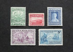 NEWFOUNDLAND - SCARCE EARLY LOT UNUSED RR