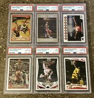 2003-08 Topps Chrome LeBron James Six-Card Set, ALL PSA 8 or 9 NM-MT! RC!