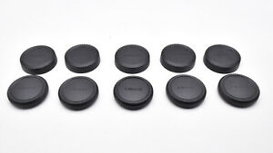 Unbranded FX Mount Rear Lens & Camera Body Cap Lot Qty-5 each Fujifilm X (T1742)