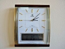 Office Atomic Wall Clock with Date & Temperature Display-0527