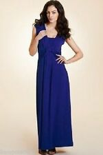 Viscose Scoop Neck Tall Maxi Dresses for Women