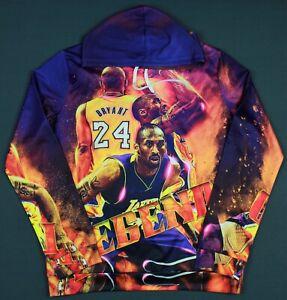 Kobe Bryant Legend Los Angeles Lakers All Over Pullover Hoodie Sweatshirt XL