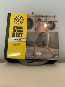 WEIGHT LIFTING BELT, GOLD'S GYM, size XL to XXL,  37 to 55 padded support , leat