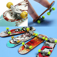 H3E# 2pcs Alloy Mini Finger Skating Board Table Game Toy Kids Skateboard Gifts