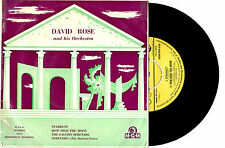 """DAVID ROSE ORCH. - STARDUST / STUDENT PRINCE - EP 7"""" 45 VINYL RECORD PIC SLV"""