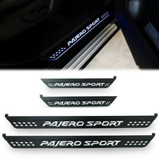 BLACK DOOR STEP SCUFF PLATE WITH LED FIT FOR MITSUBISHI PAJERO SPORT 2015 16 17