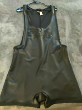 XL Nasty Pig wrestling Singlet rubber shiny wet look polyurethane gay int?