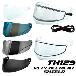 TH129 Adult Full Face Helmets Visor Shield TYPHOON Helmets Replacement Shield